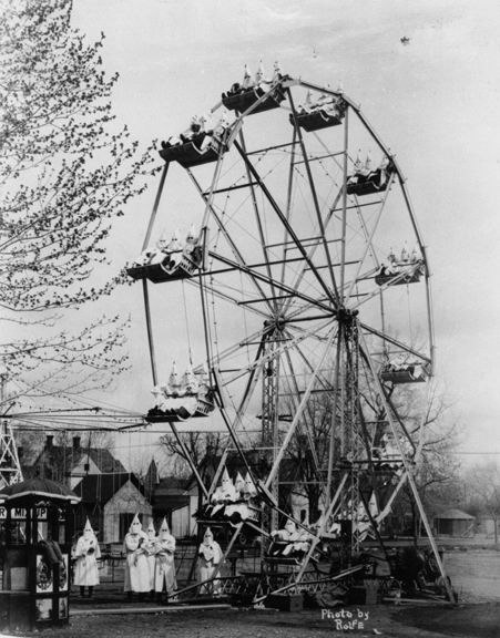 Ku Klux Klan at the carnival in Canon City, 1925