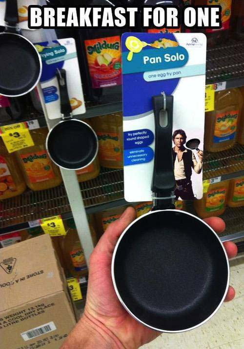Pan Solo star wars dish for sunny side eggs for one person