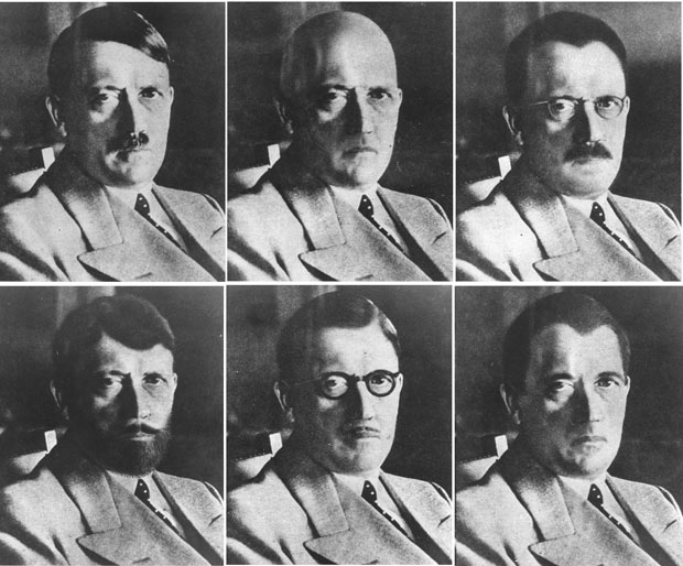 US Government mockups of how Hitler could have disguised himself