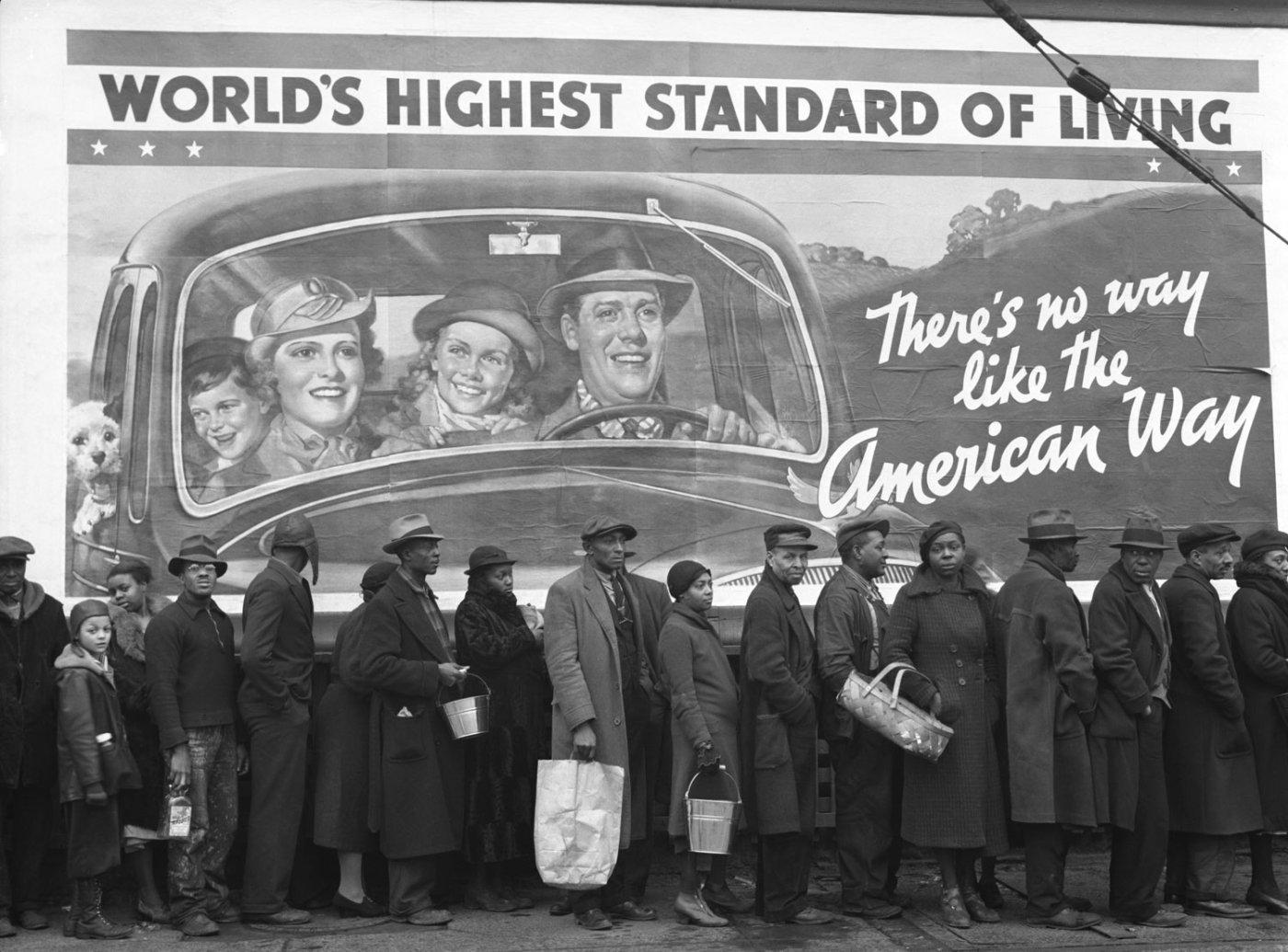 World's Highest Standard of Living - A Margaret Bourke-White Photograph,1937