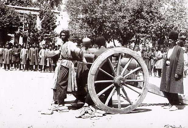 1850_Mid-Late 19th century, Execution by cannon, in Shiraz, Iran,