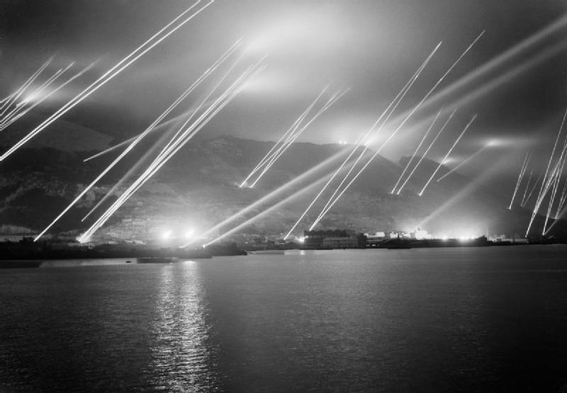 1942, Searchlights on the Rock of Gibraltar, 1942