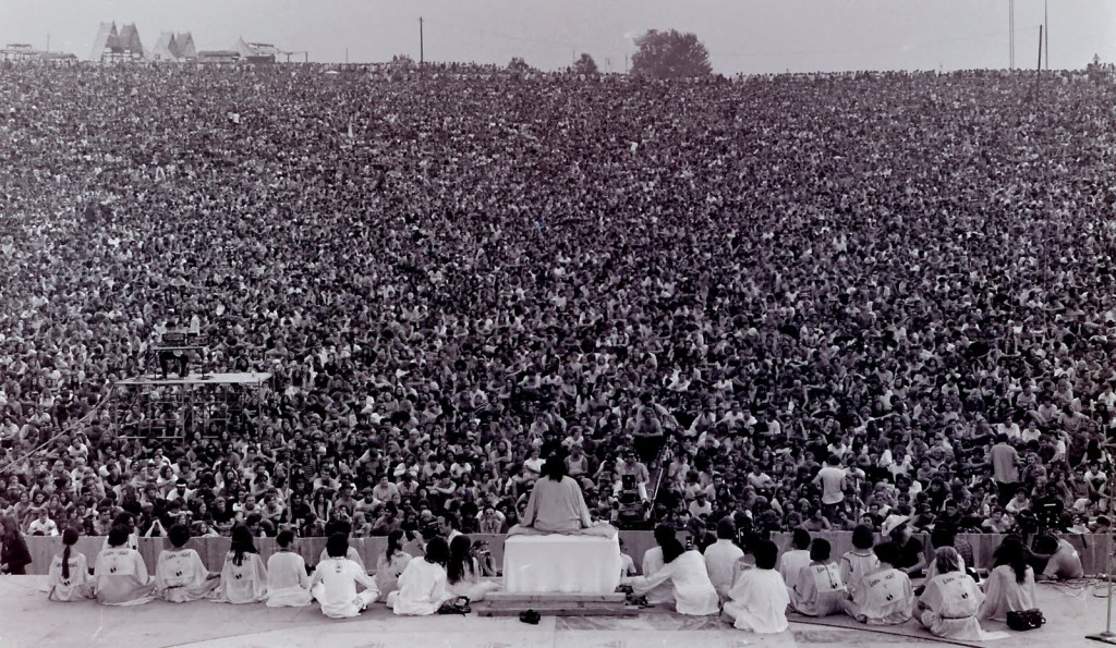 1969, Woodstock - The Opening Ceremony. Bethel, New York, 14 August 1969