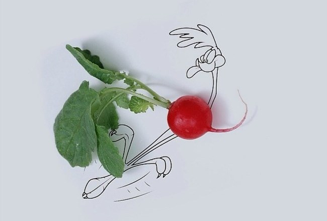 Cool Food Drawings by a Creative Artist