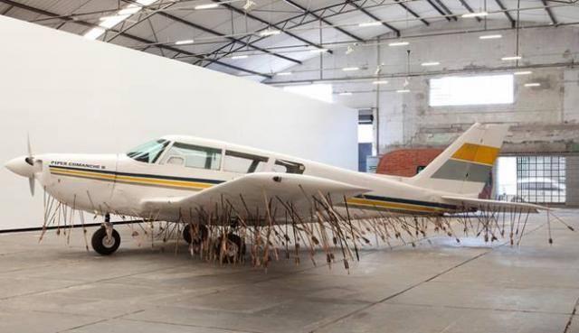 plane full of arrows
