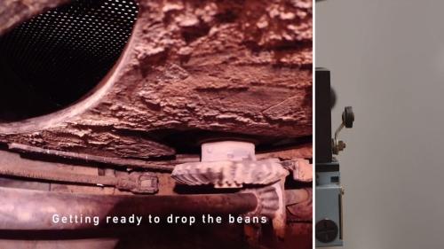 GoPro Camera Inside Coffee Roaster Machine