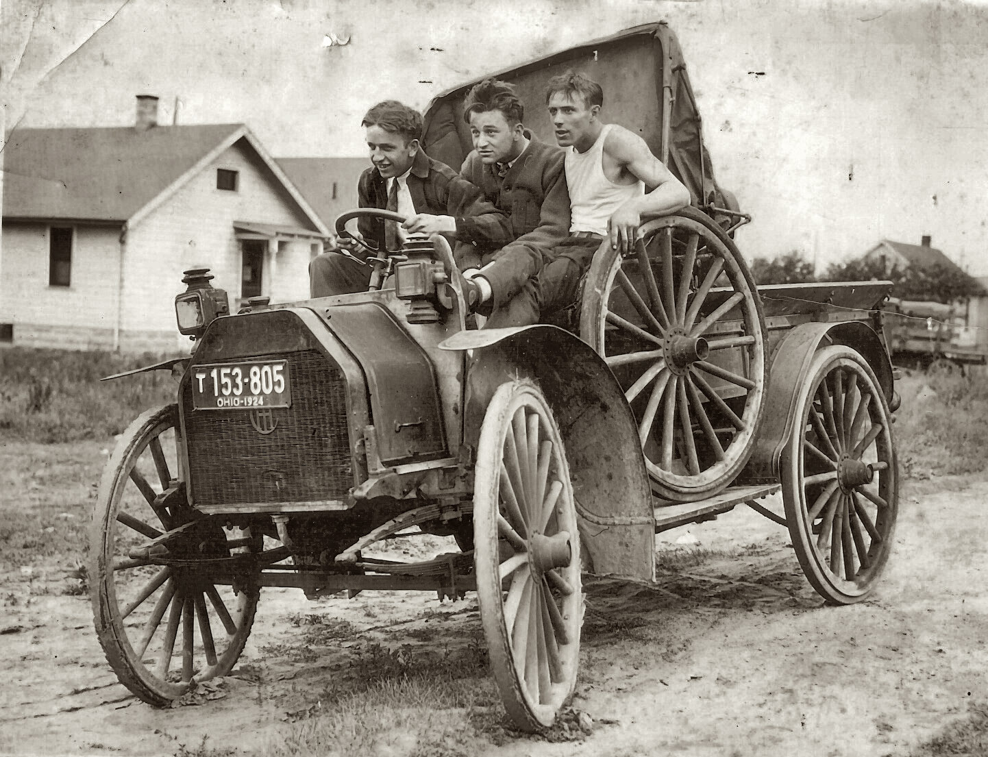 1924 three friends take a joyride