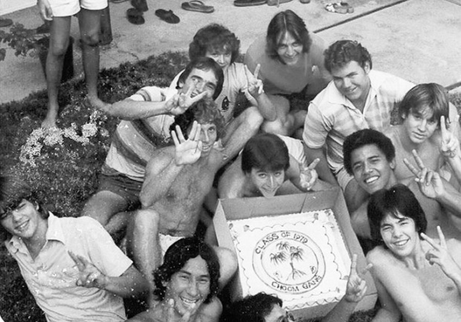 1979 barack obama with choom gang on hawaii