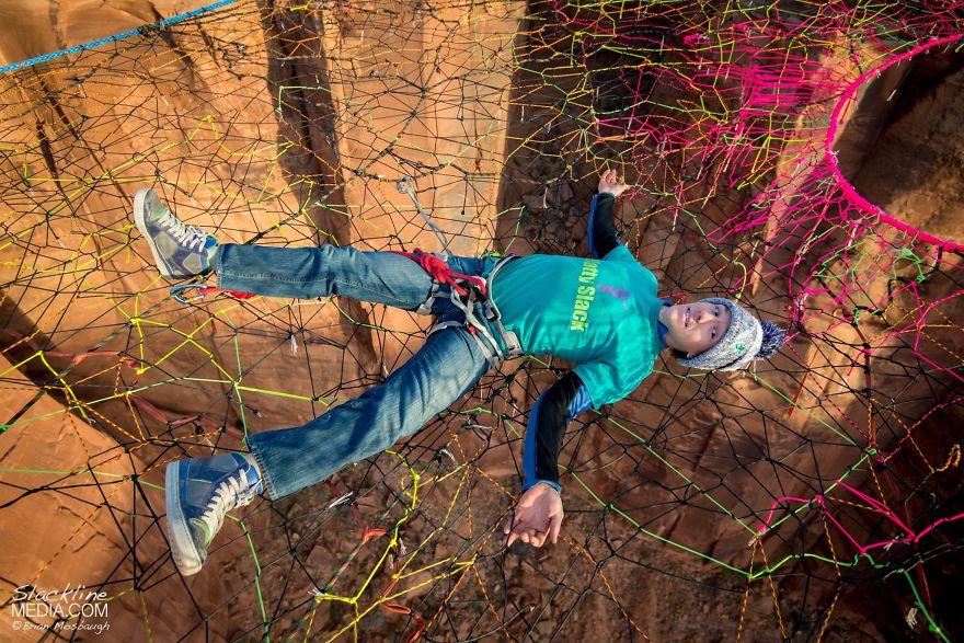 pentagon-handmade-net-over-canyon-moab-monkeys-brian-mosbaugh-1