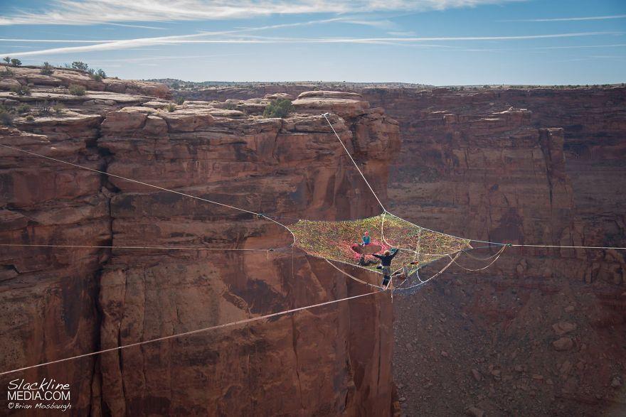 pentagon-handmade-net-over-canyon-moab-monkeys-brian-mosbaugh-3
