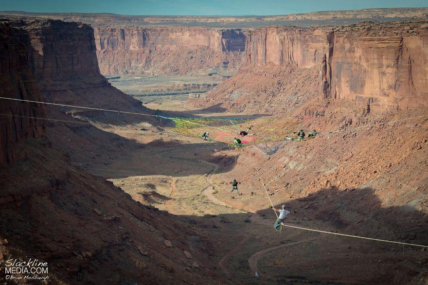 pentagon-handmade-net-over-canyon-moab-monkeys-brian-mosbaugh-8