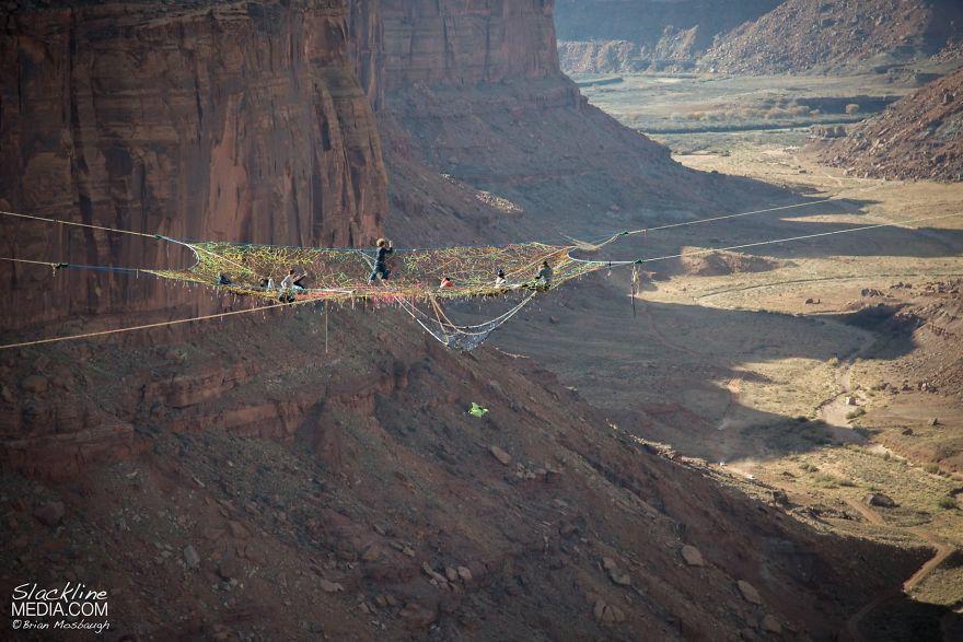 pentagon-handmade-net-over-canyon-moab-monkeys-brian-mosbaugh