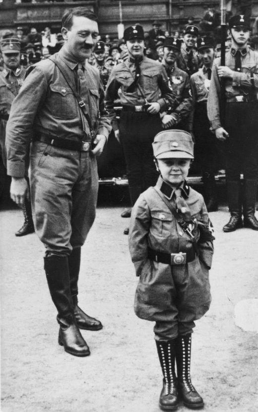 Big Chancellor, Little Chancellor Caricature of Hitler and Austrian Chancellor Engelbert Dollfuß Shortly before the Latter's Assassination Summer 1934