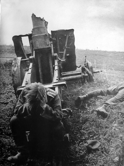 1943 German soldier after the Battle of Kursk, Russia. Eastern Front, 1943