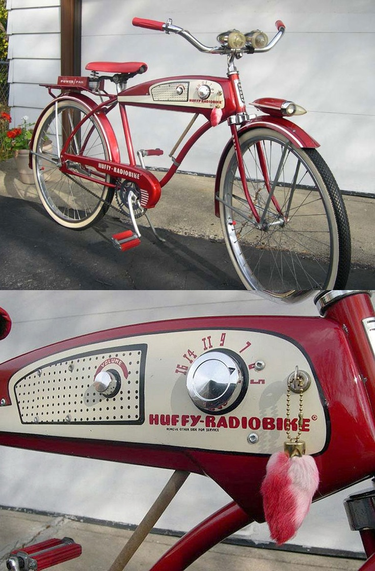 1955 Huffy-Radiobike. It has a radio! Solves the no earbuds problem.