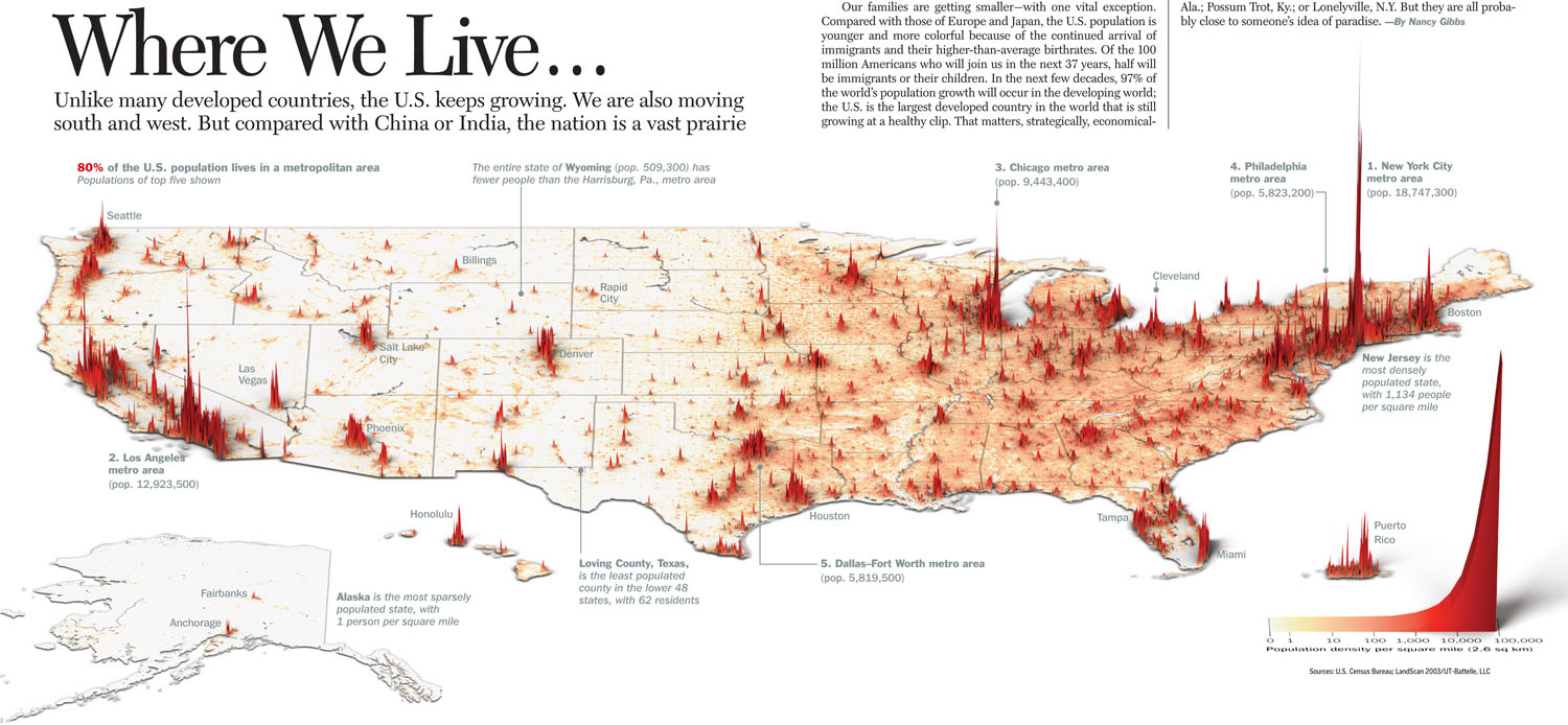 Where We Live Earthly Mission - Us map population density