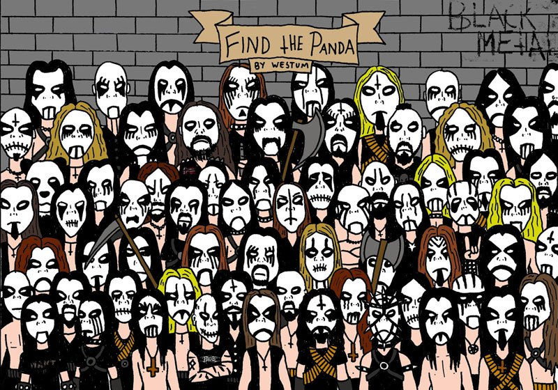 find-the-panda-black-metal-version