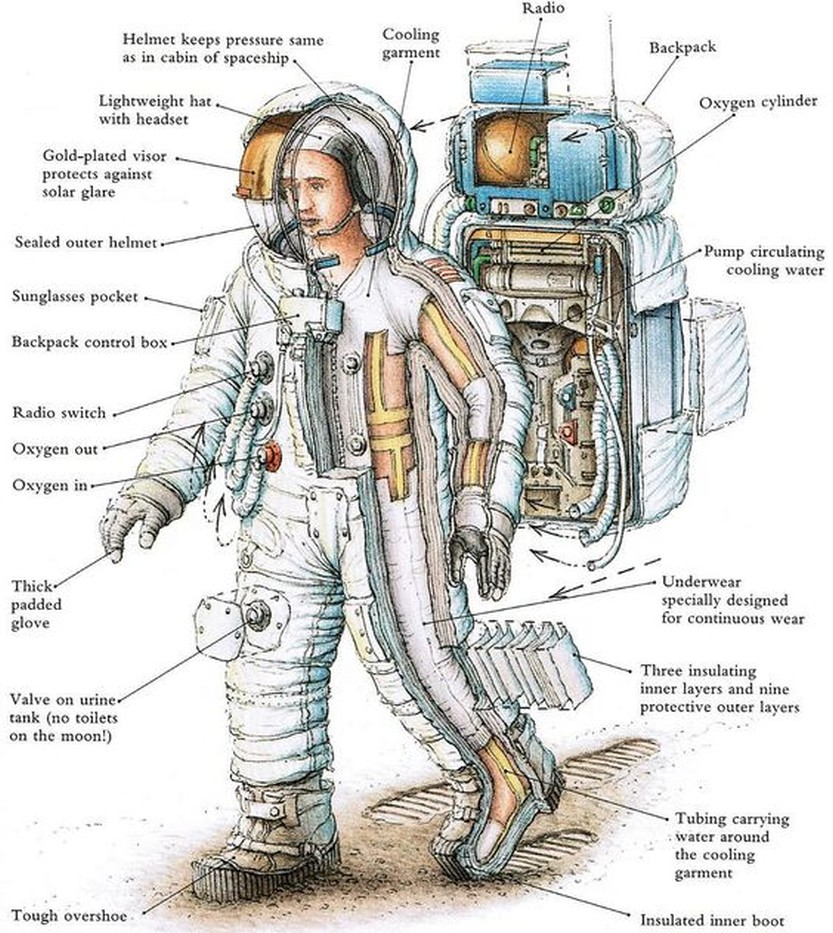 cross section spacesuit