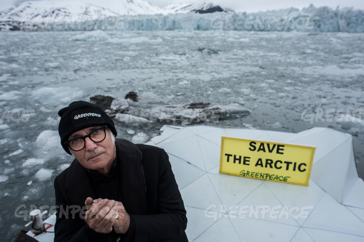 Wahlenbergbreen Glacier, Svalbard, Norway Greenpeace