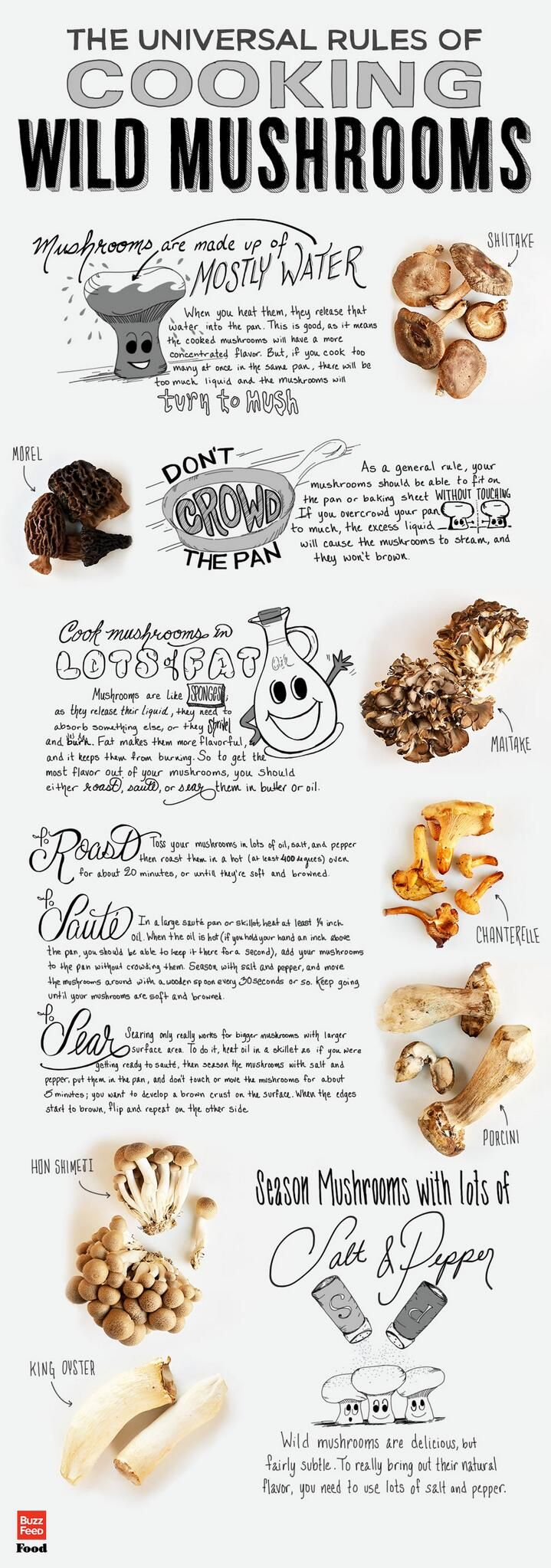 universal rules of cooking wild mushrooms