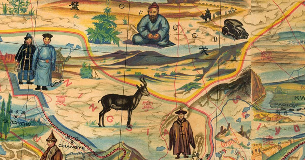 vintage-pictorial-map-of-china