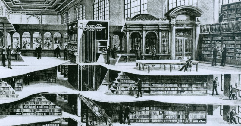 cross-section-of-new-york-public-library-7-underground-levels-1911-fb