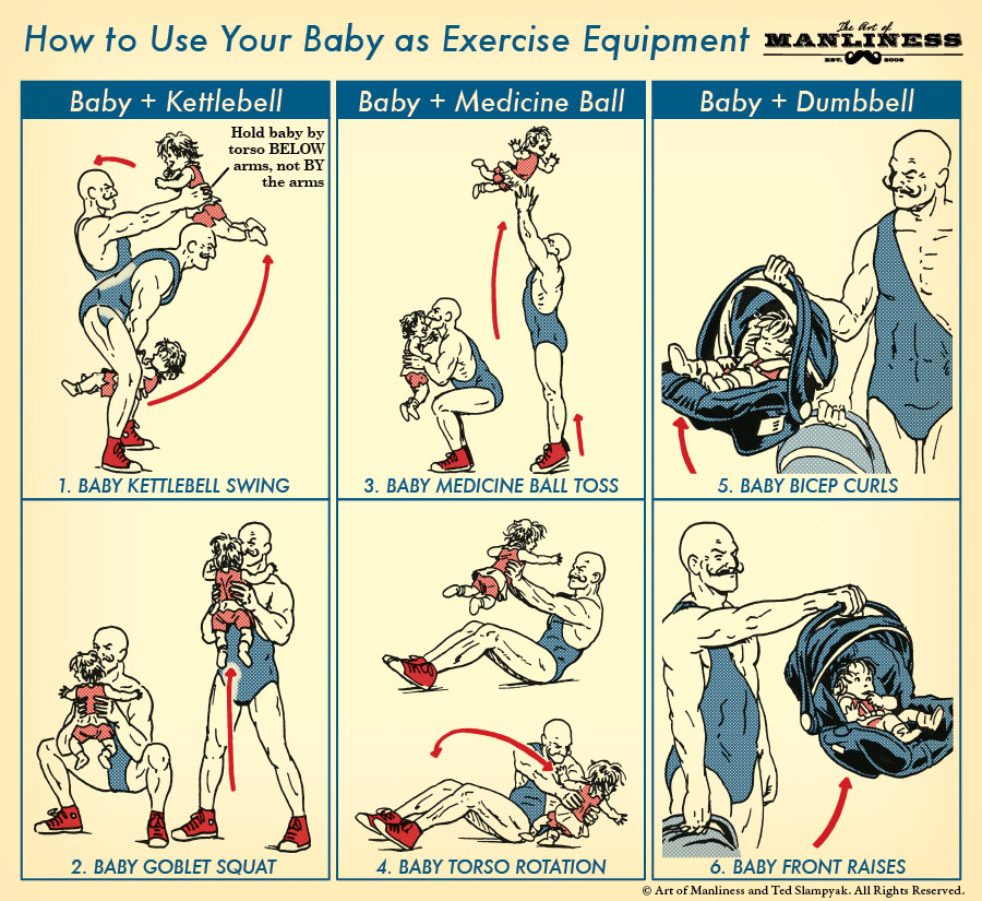 how-to-use-your-baby-as-exercise-equipment-infographic
