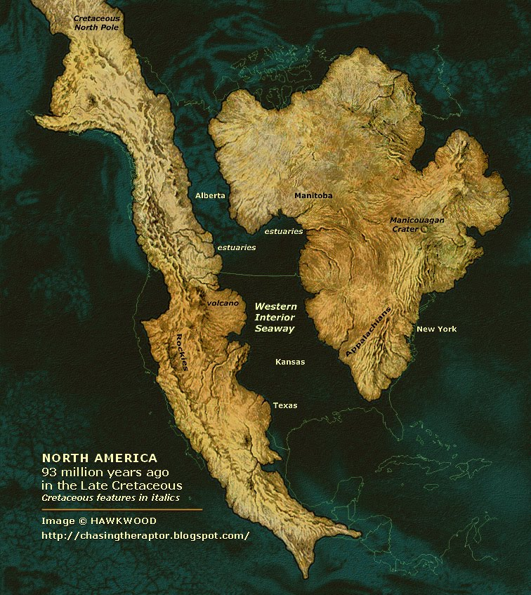 North America 93 Million Years Ago  Earthly Mission