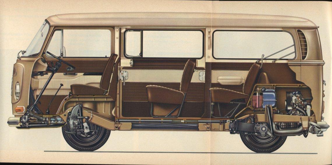 cutaway illustrations   classic volkswagen