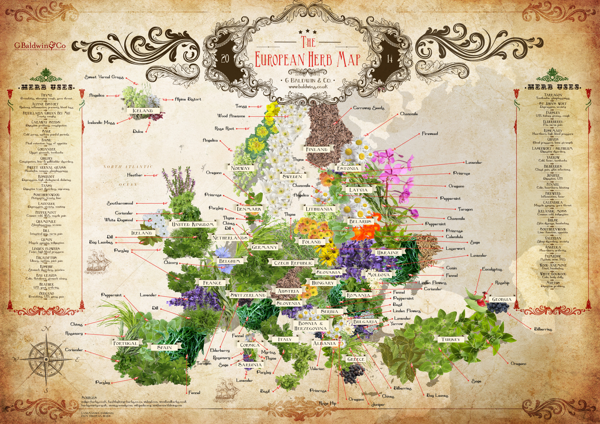 The semi global herb map earthly mission europe herb map gumiabroncs Choice Image