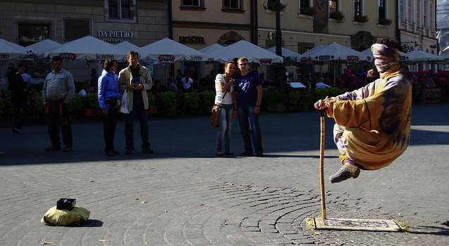 Levitating Street Performers: How Do They Do It? | Earthly ...