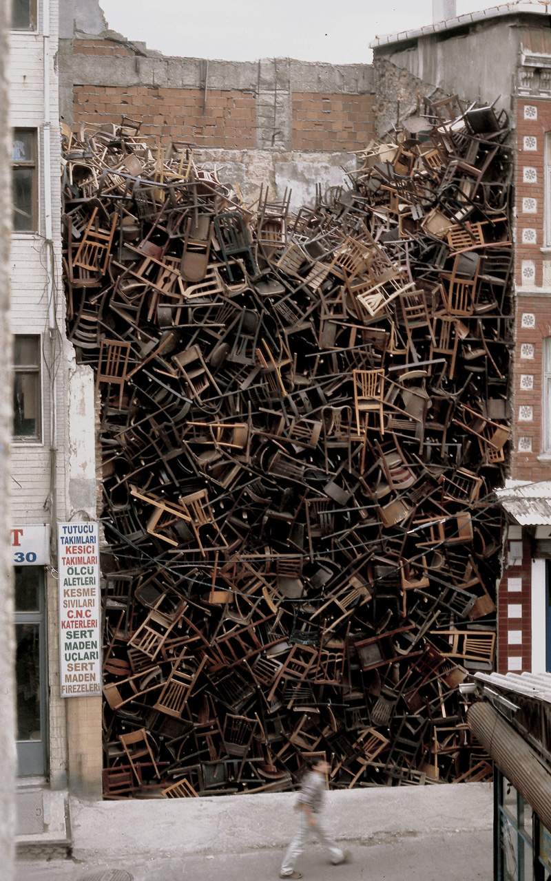 Cool Street Art Made Of Chairs A Lot Of Chairs Earthly