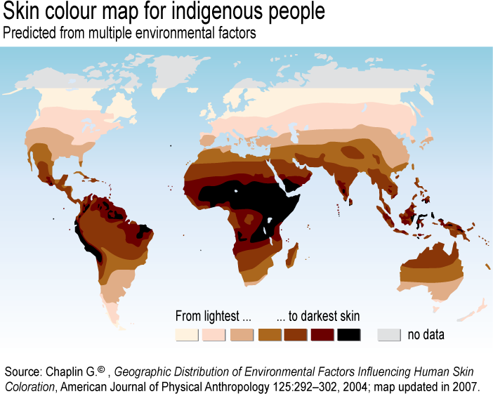 World Skin Color Map Reveals Truth About Races