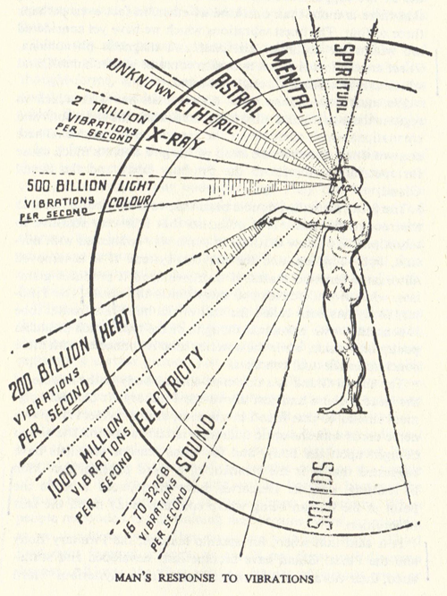 Mans Response To Vibrations on Body And Soul Spirit Diagram