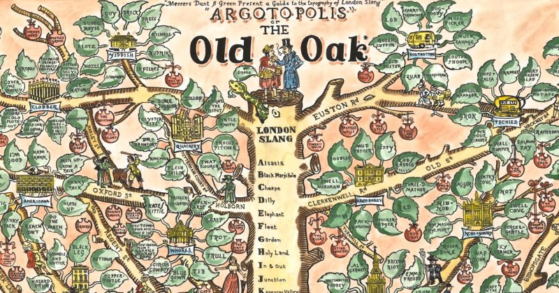 Slang earthly mission argotopolis a map of london slang sciox Gallery