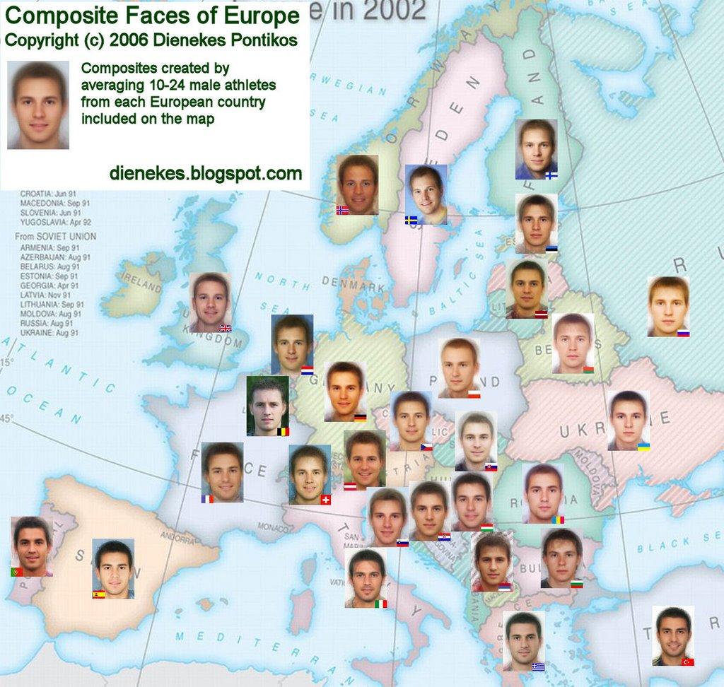 average man faces europe composite