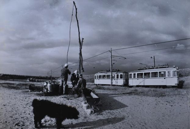 tram in the hungarian puszta