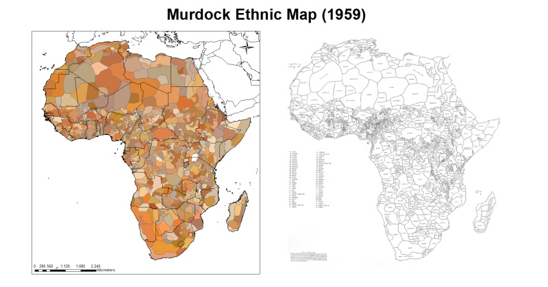 Map Of Africa With Ethnic Boundaries
