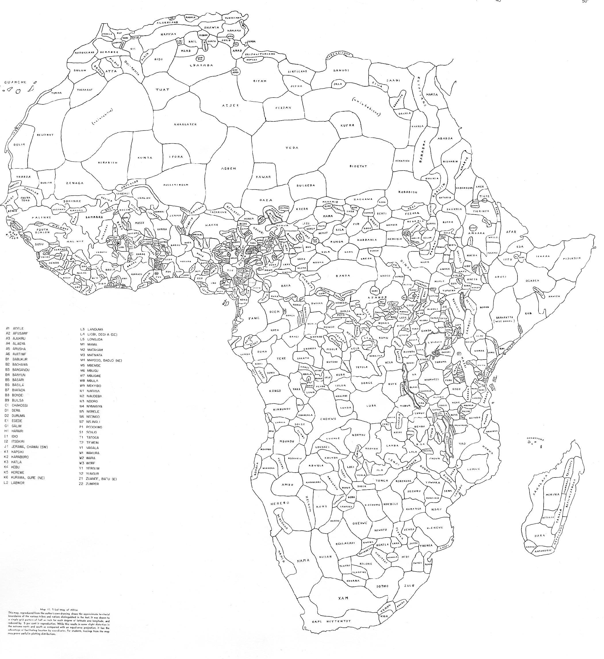 africa ethnic map