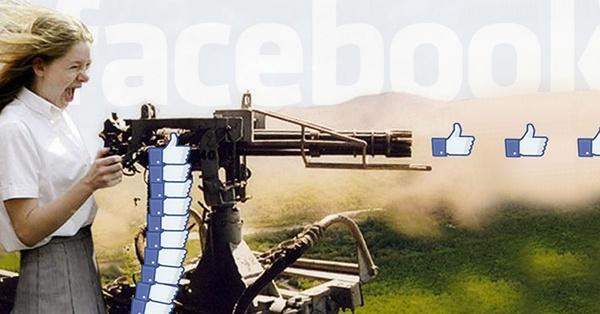 Fecebook like machine gun