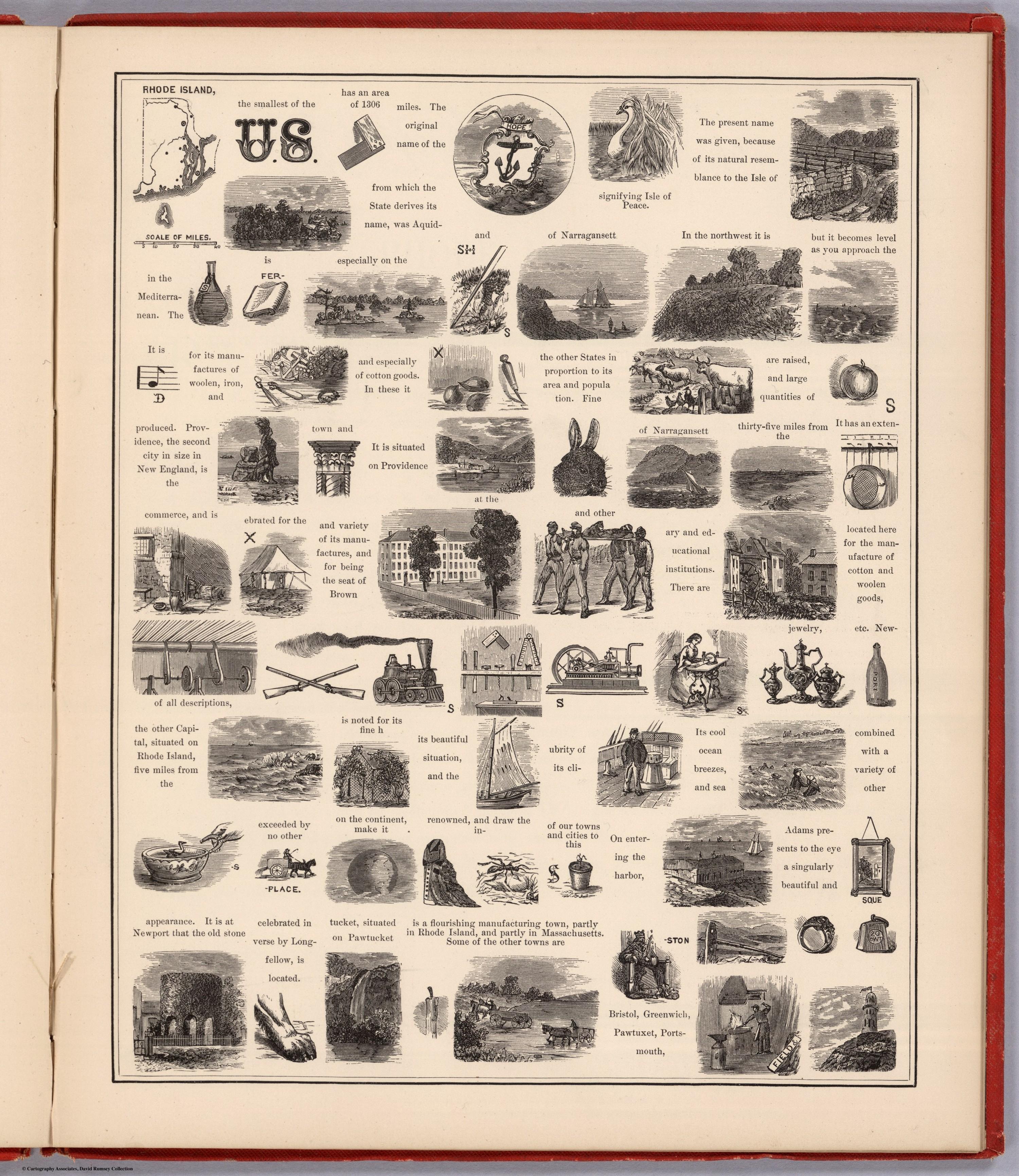 Hieroglyphic Geography of Rhode Island