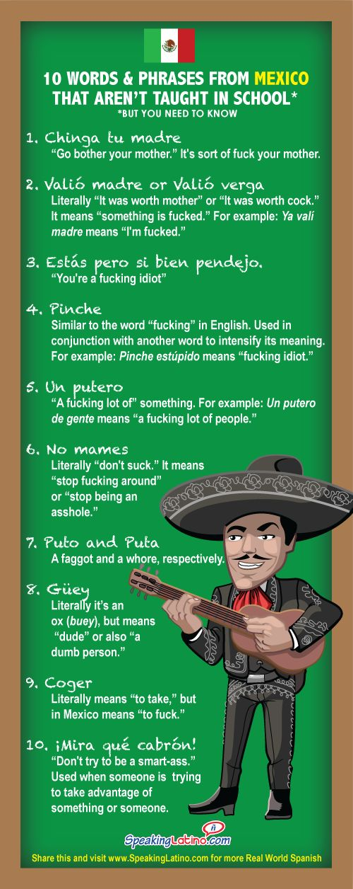 Words amp Phrases from Latin American Countries That Arent