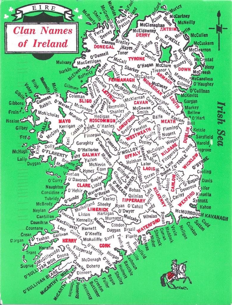 Irish clan map names