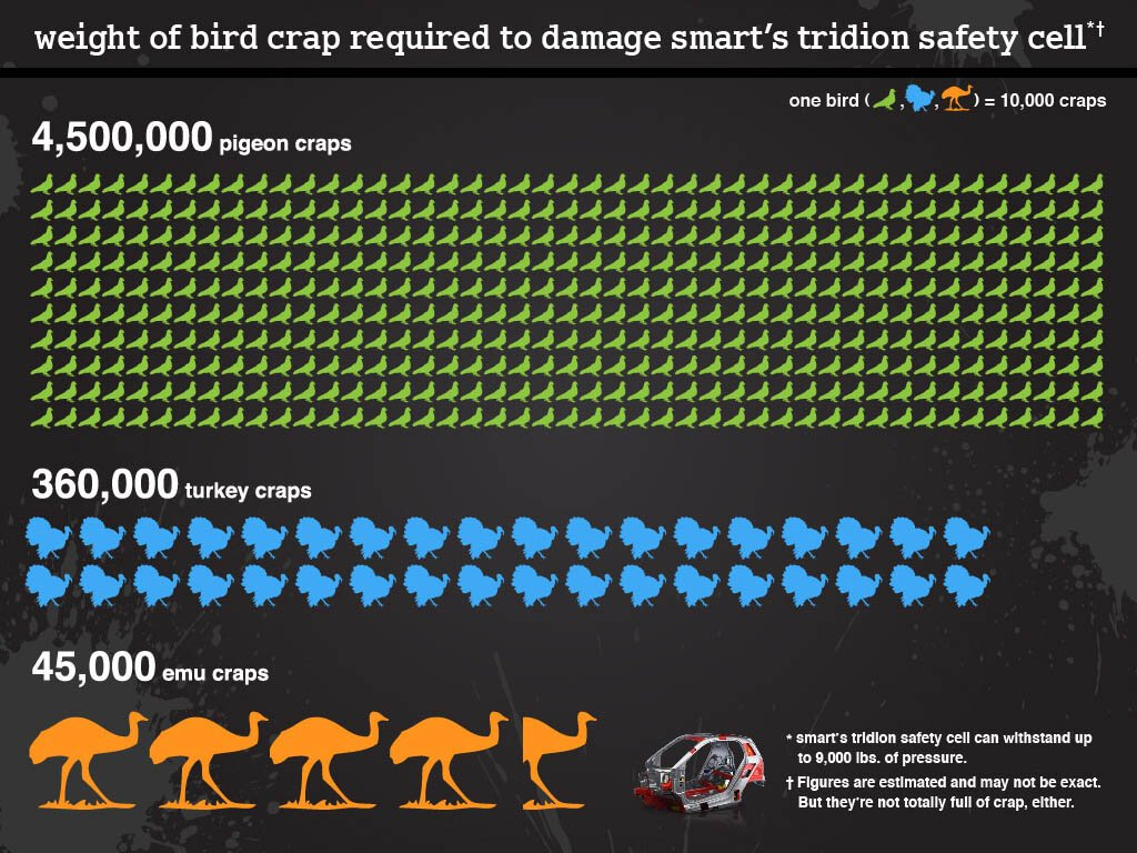 how much bird poop does it take to damage a smart car earthly mission. Black Bedroom Furniture Sets. Home Design Ideas