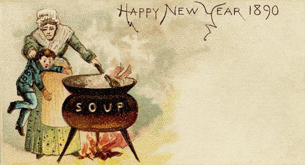 Weird Vintage Christmas And New Year Greeting Cards