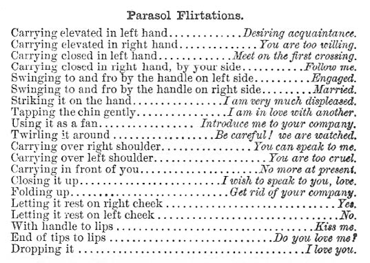old ways of flirtation from when there were no emoticons