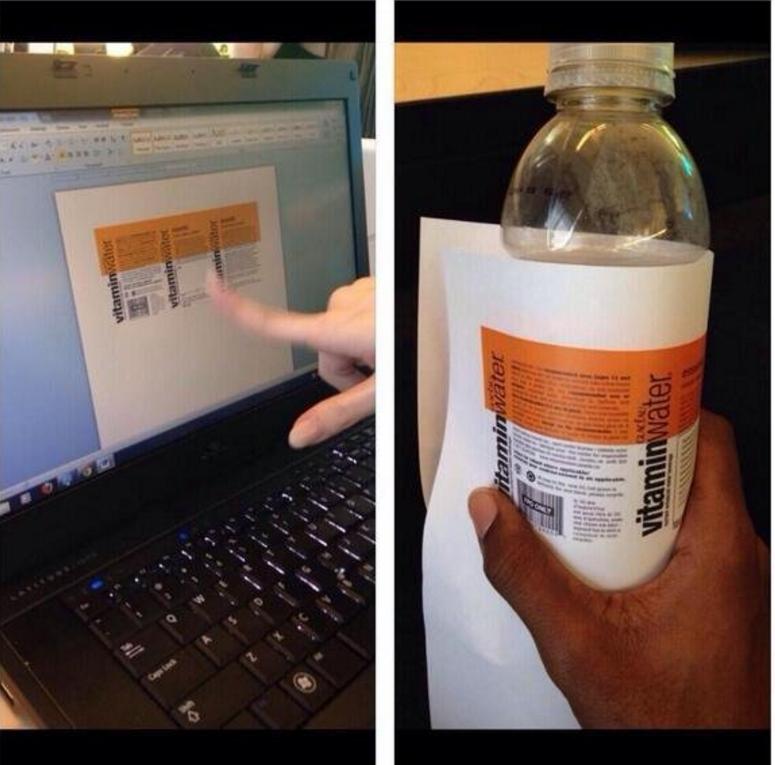 cheat exam vitamin water