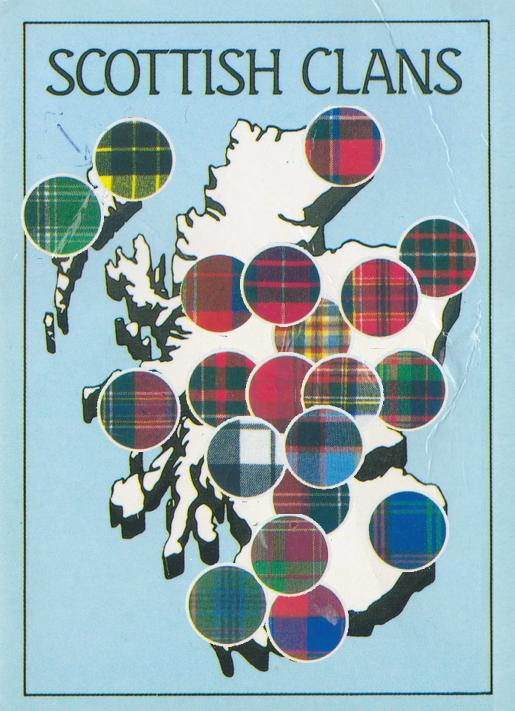 Color Patterns Used on the Kilts of Scottish Clans