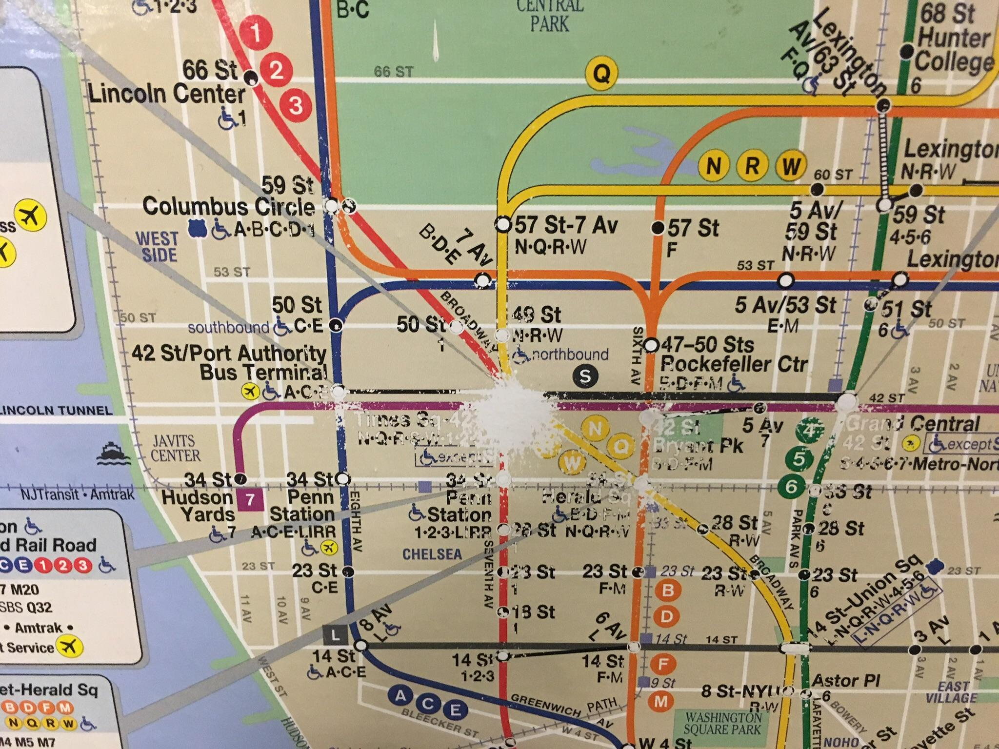 times square subway map