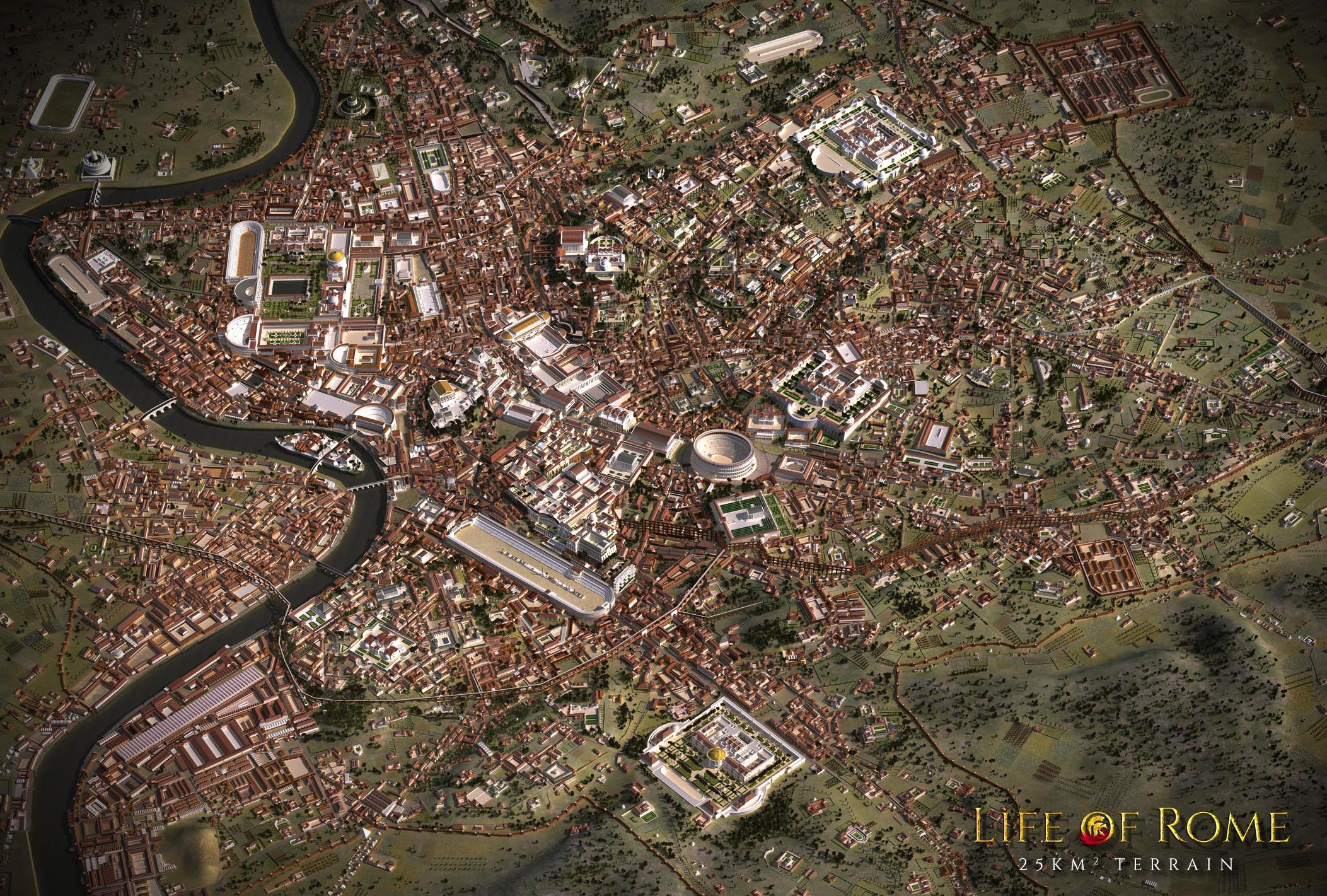 3d reconstruction of ancient rome